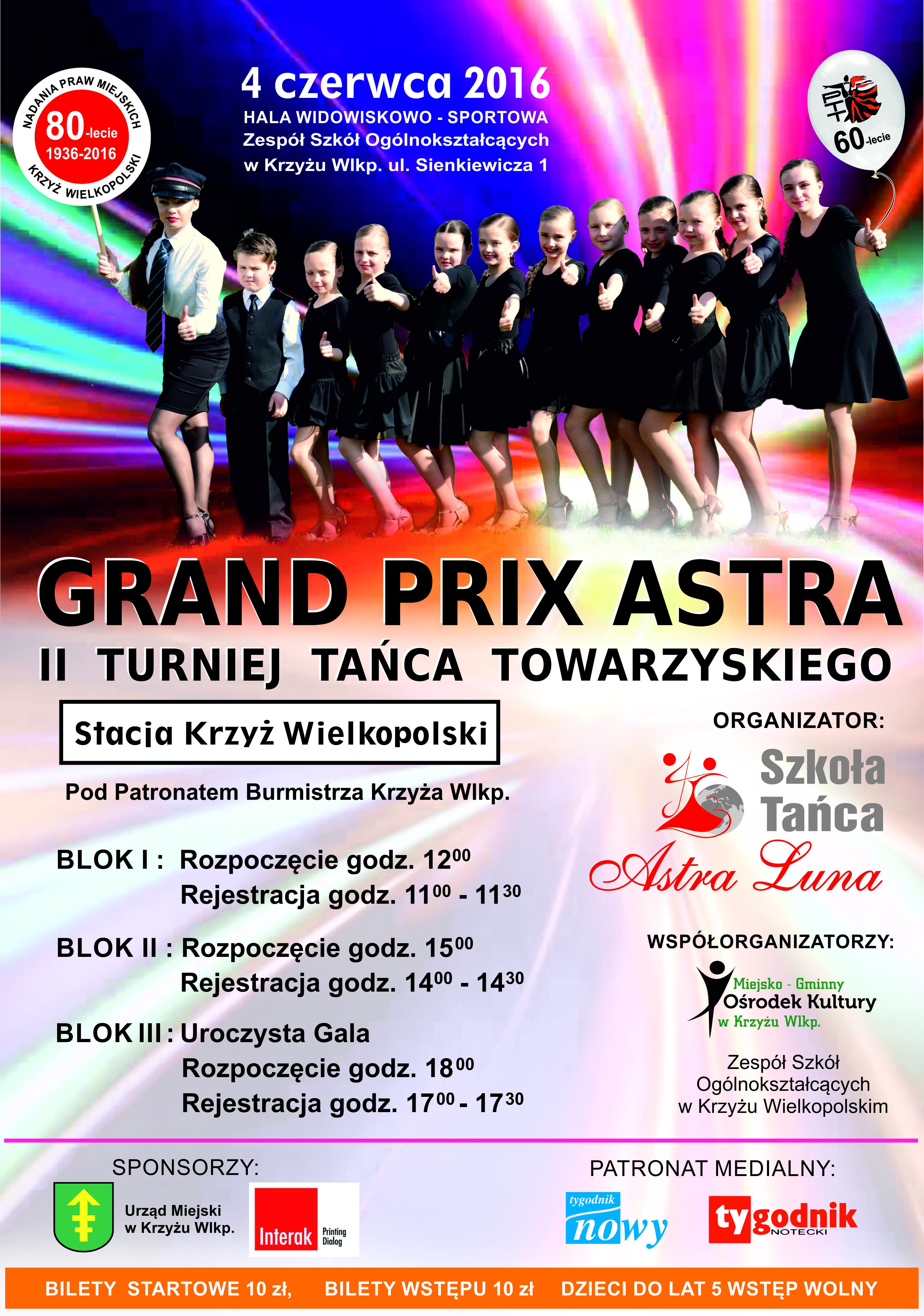"""II Turniej Tańca Towarzyskiego """"Stacja Krzyż Wlkp."""" 04.06.2016r."""