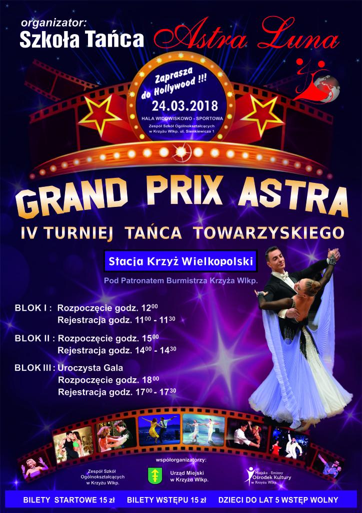 """IV Turniej Tańca Towarzyskiego """"Stacja Krzyż Wlkp."""" 24.03.2018r."""